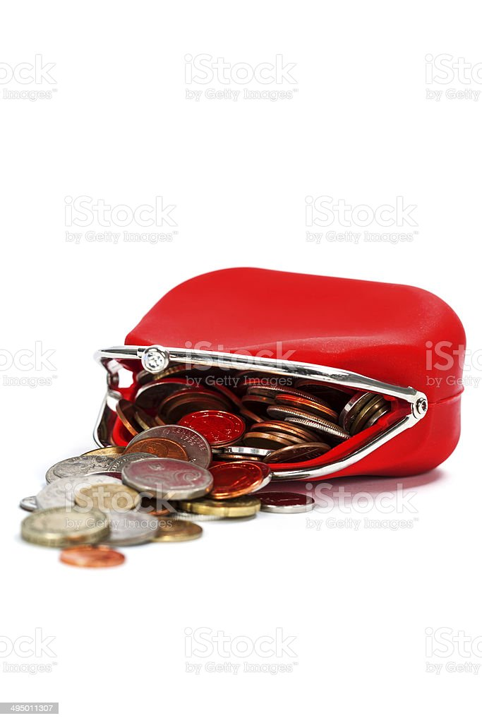 Red purse stock photo