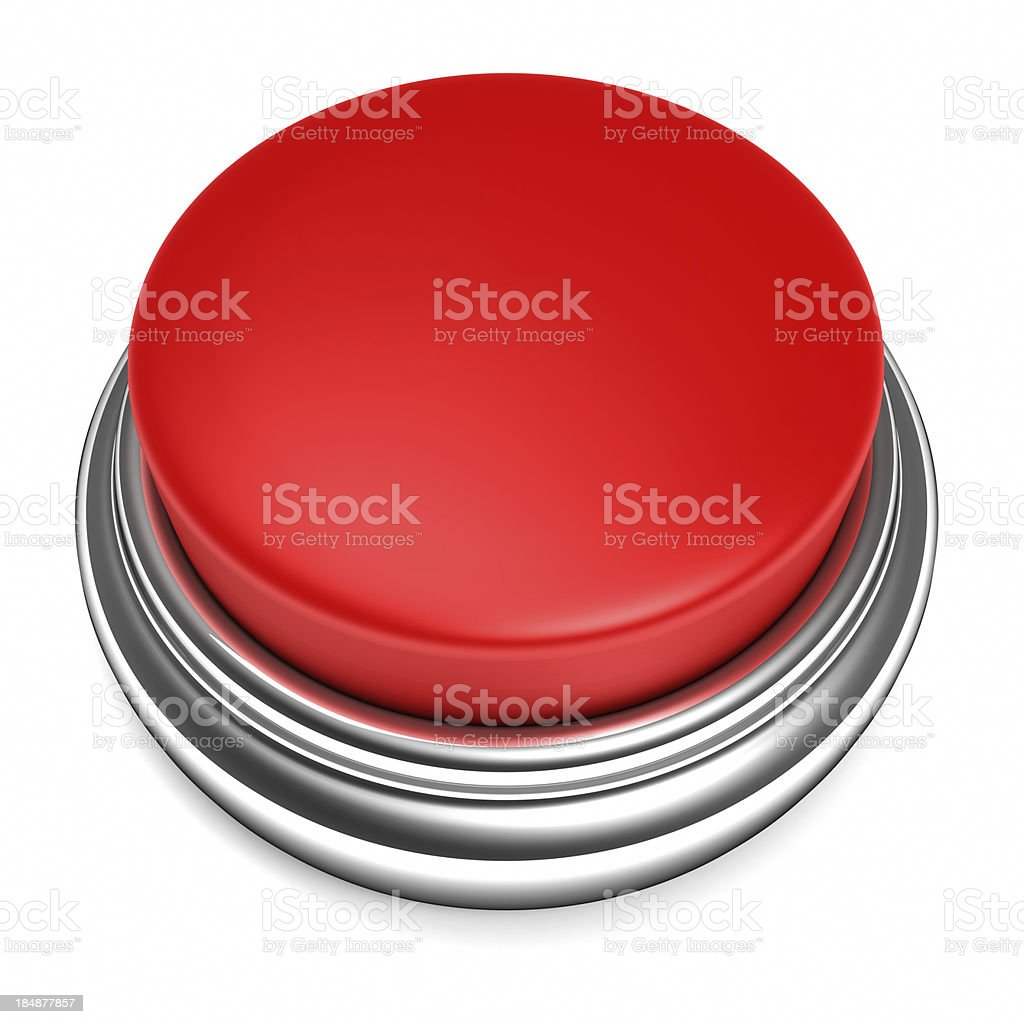 Red Push Button stock photo