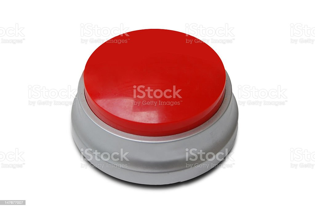 Red push emergency button royalty-free stock photo
