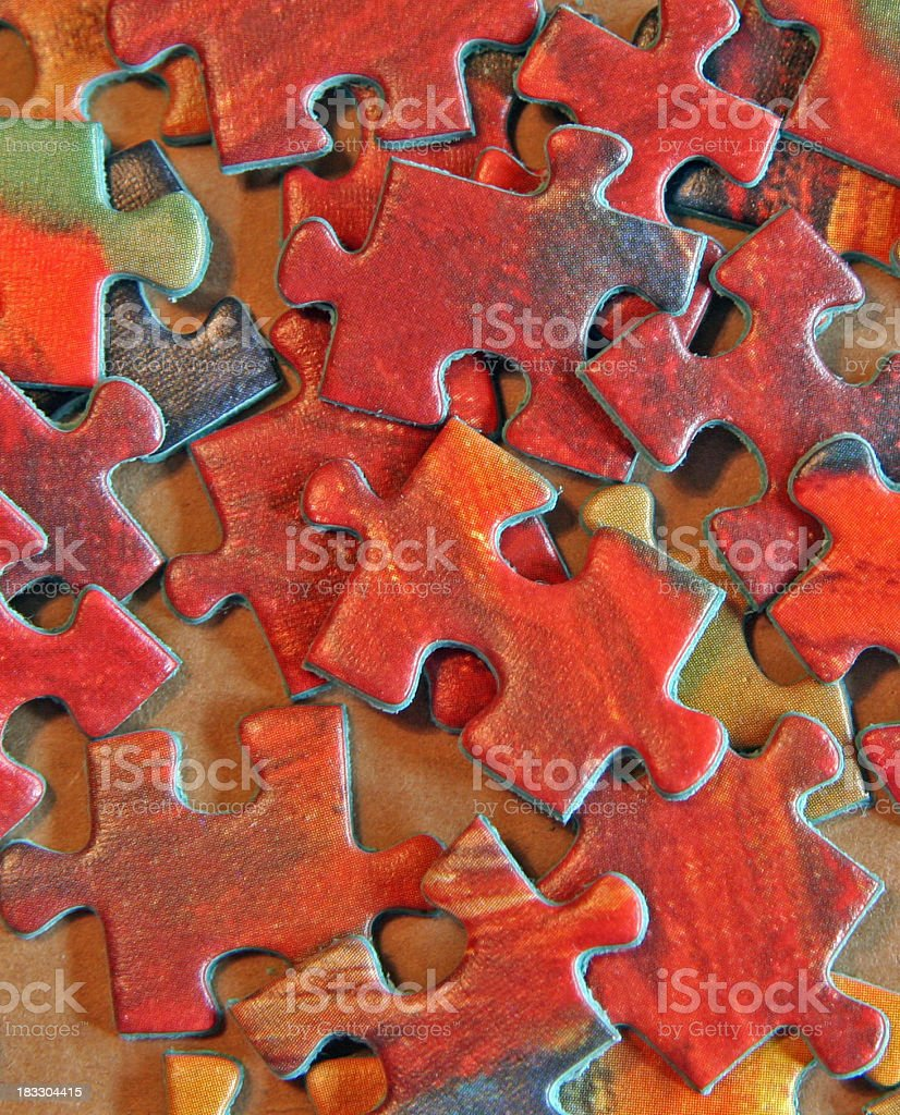Red Puzzle Pieces stock photo