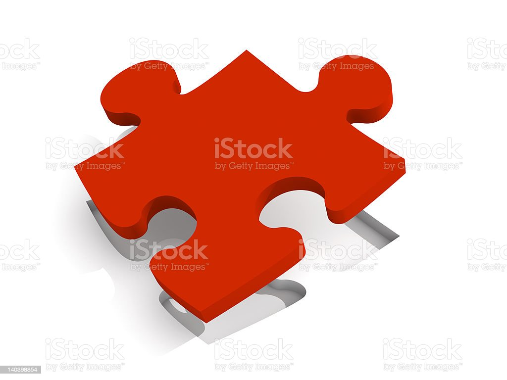 Red Puzzle Solution royalty-free stock photo