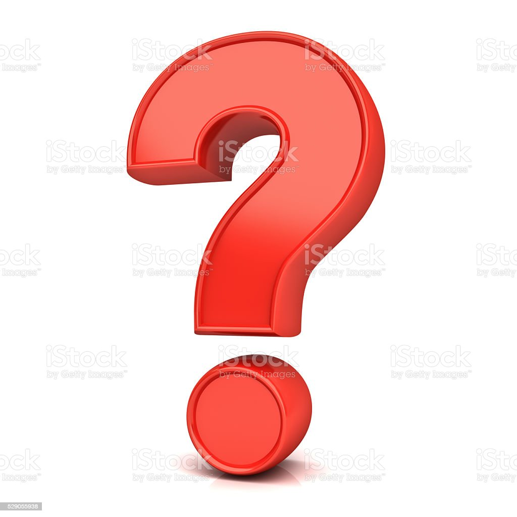 Red Question Mark stock photo