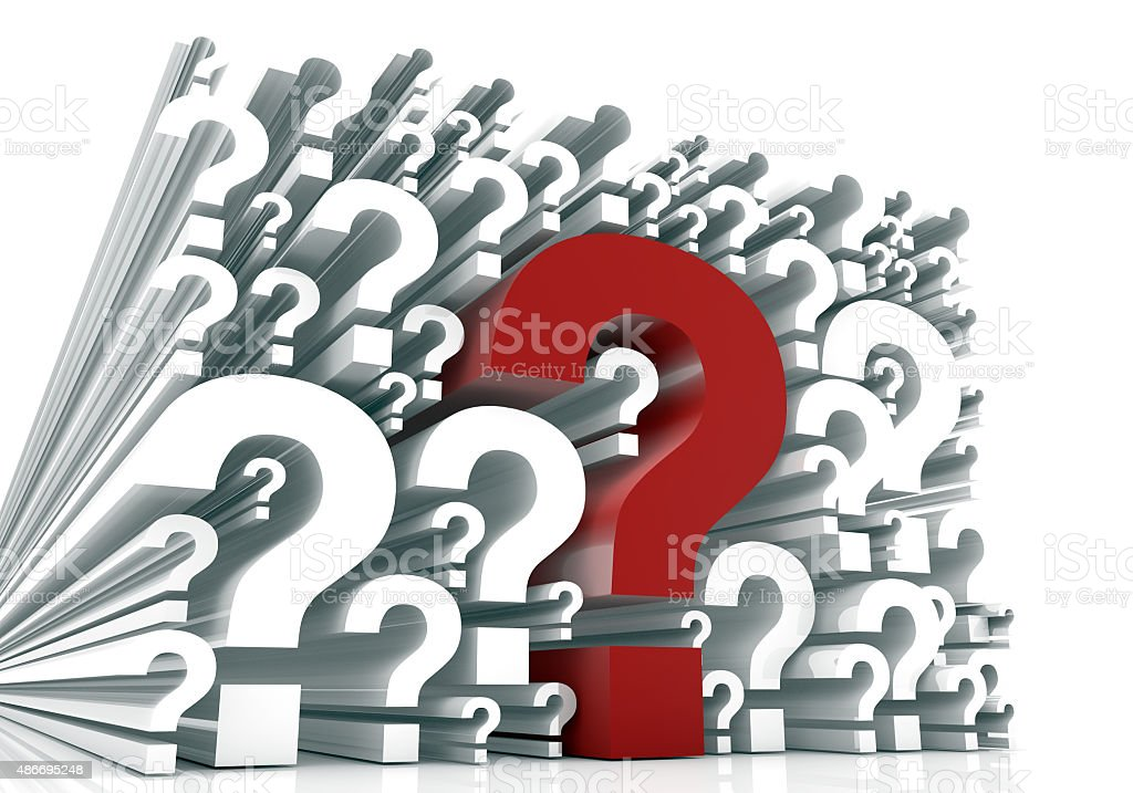 Red Question Marks stock photo
