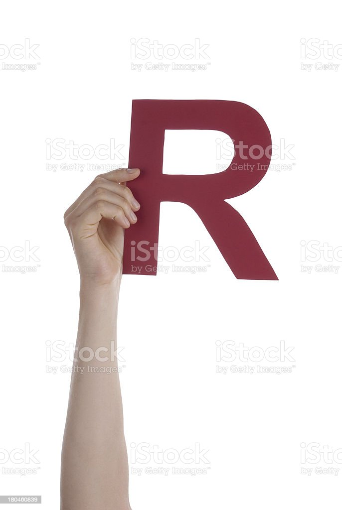 Red R royalty-free stock photo