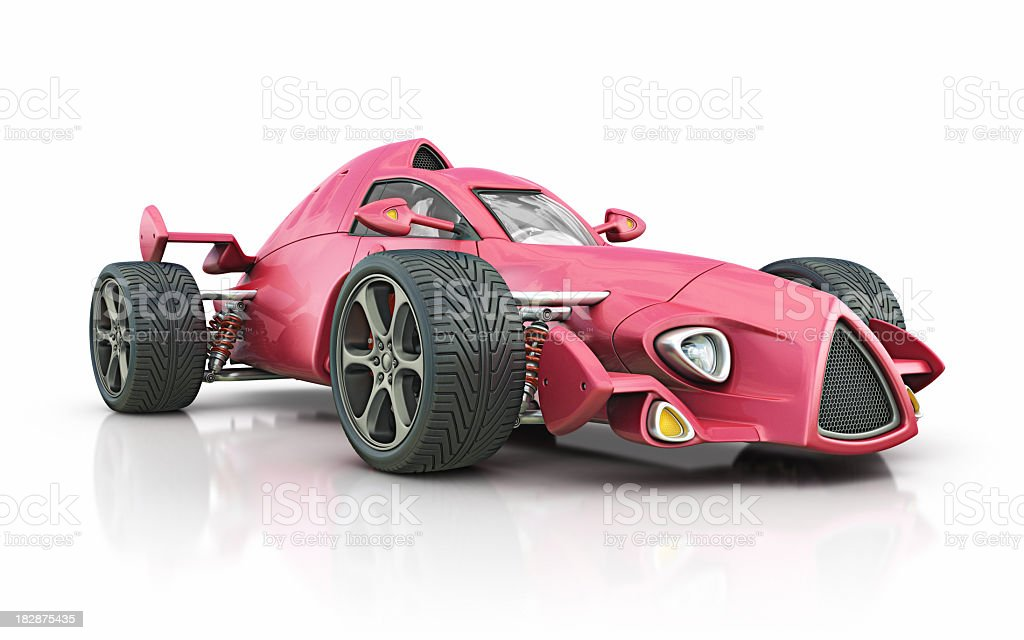 red race car stock photo