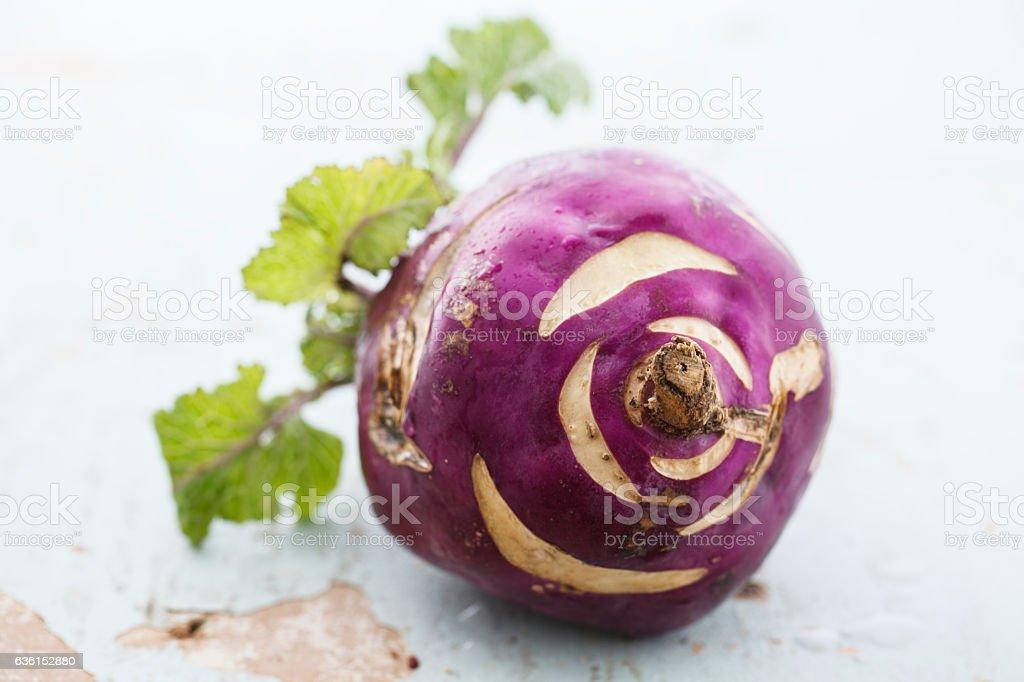 Red radish peeled of stock photo