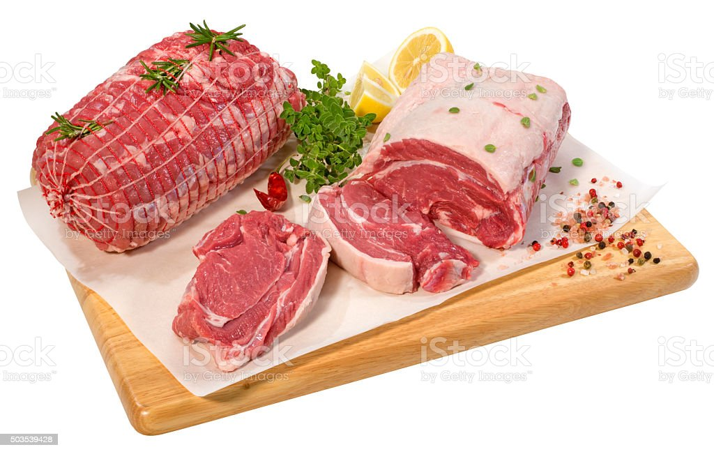 Red Raw Meat stock photo