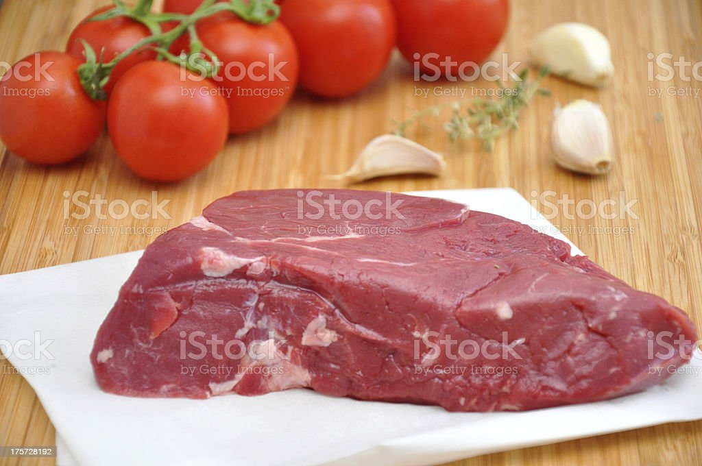 Red Raw Steak royalty-free stock photo