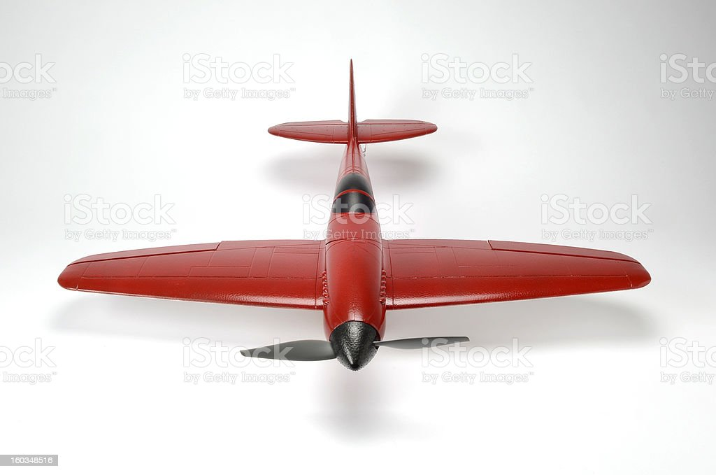 Red RC Plane Front View royalty-free stock photo