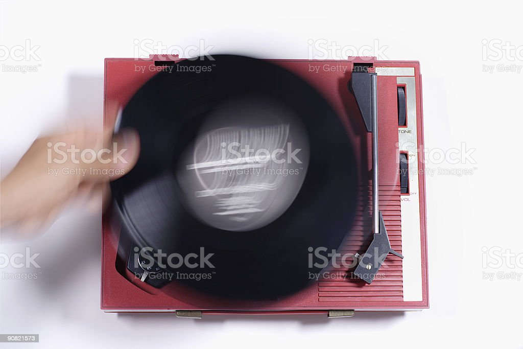 red record player royalty-free stock photo