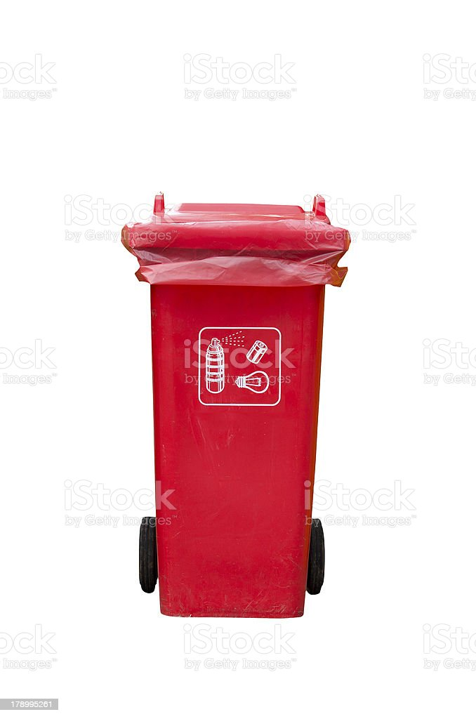 Red Recycle Bin royalty-free stock photo