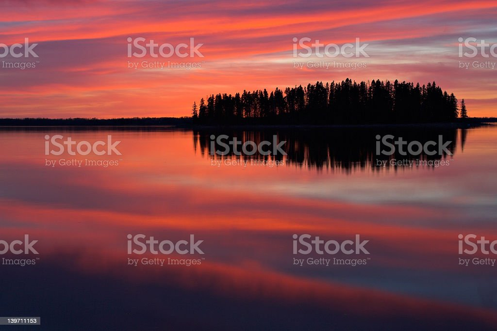 Red Reflections royalty-free stock photo