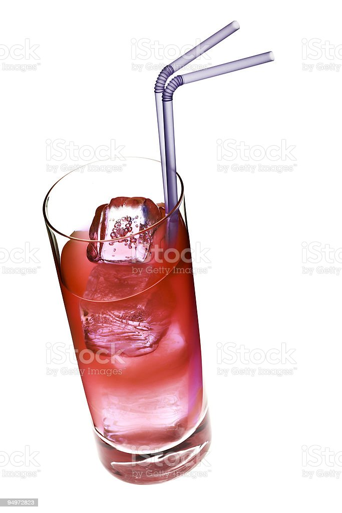 red refreshing drink isolated royalty-free stock photo