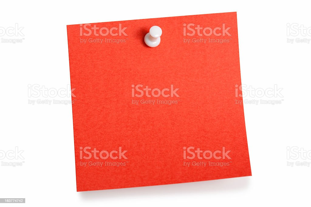 Red reminder stock photo