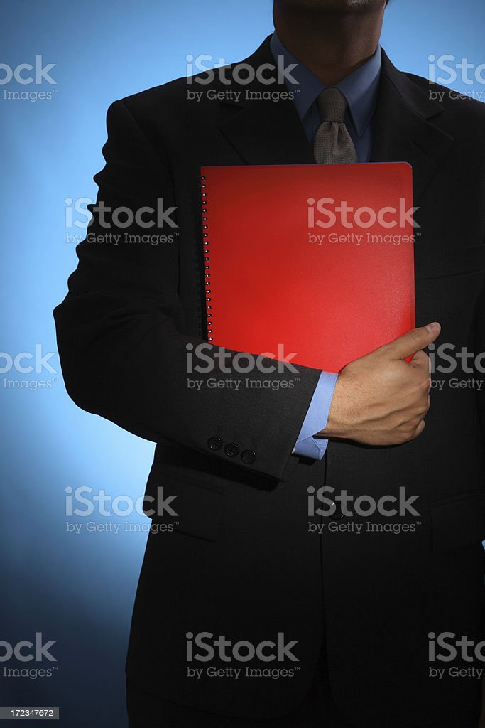 Red report royalty-free stock photo