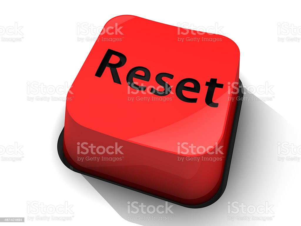 Red Reset Button stock photo