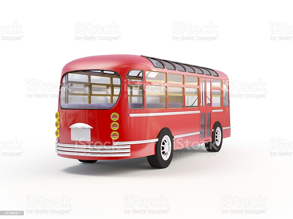red retro bus back royalty-free stock photo