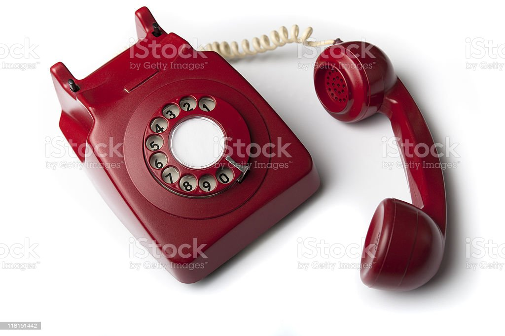 red retro telephone royalty-free stock photo