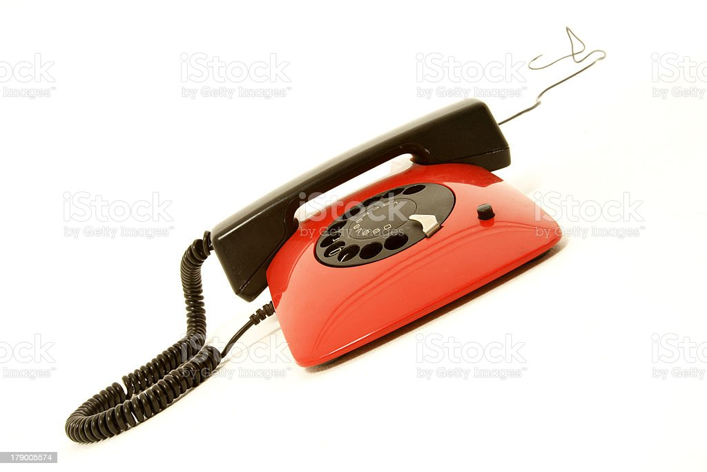 red retro telephone royalty-free stock photo