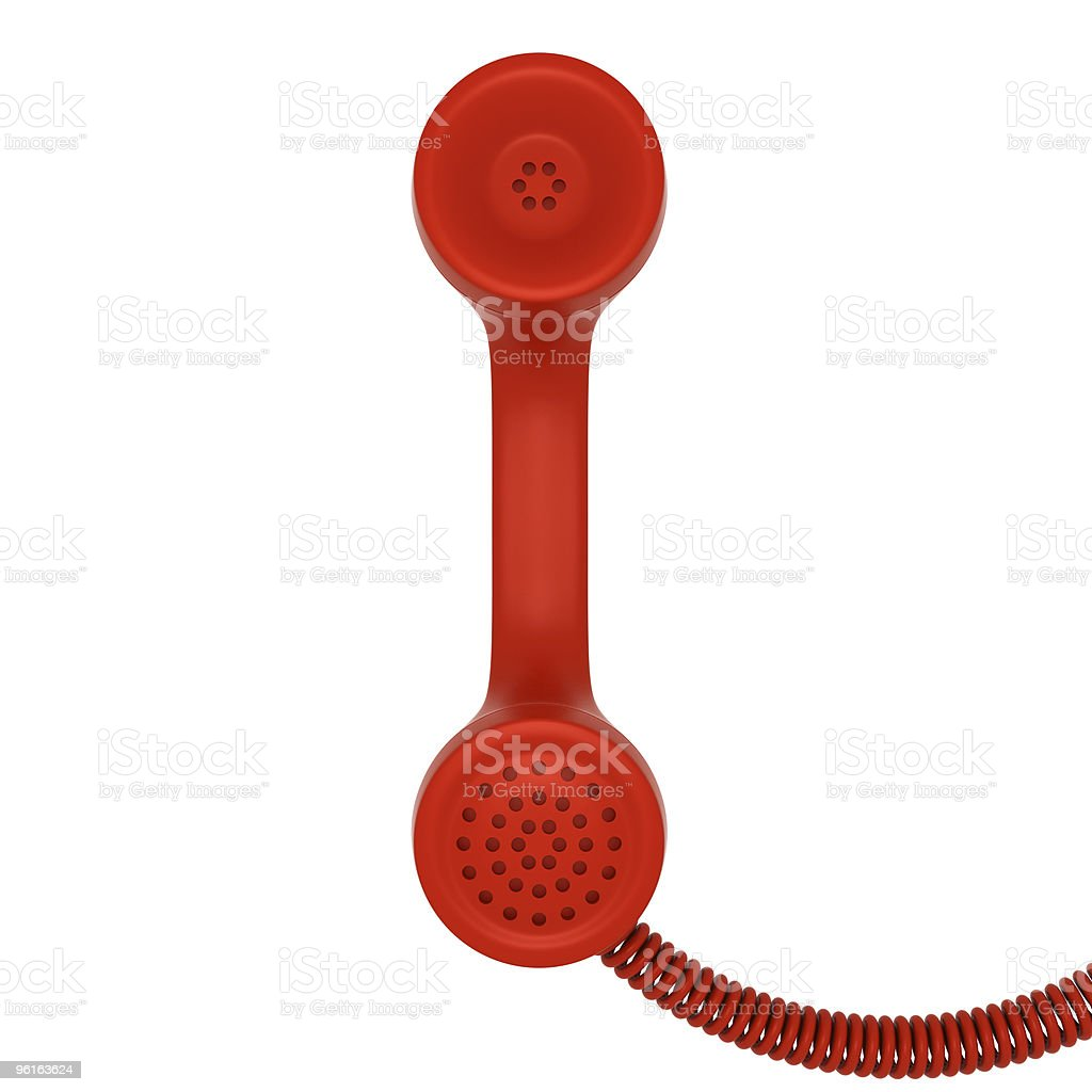 Red retro telephone tube stock photo
