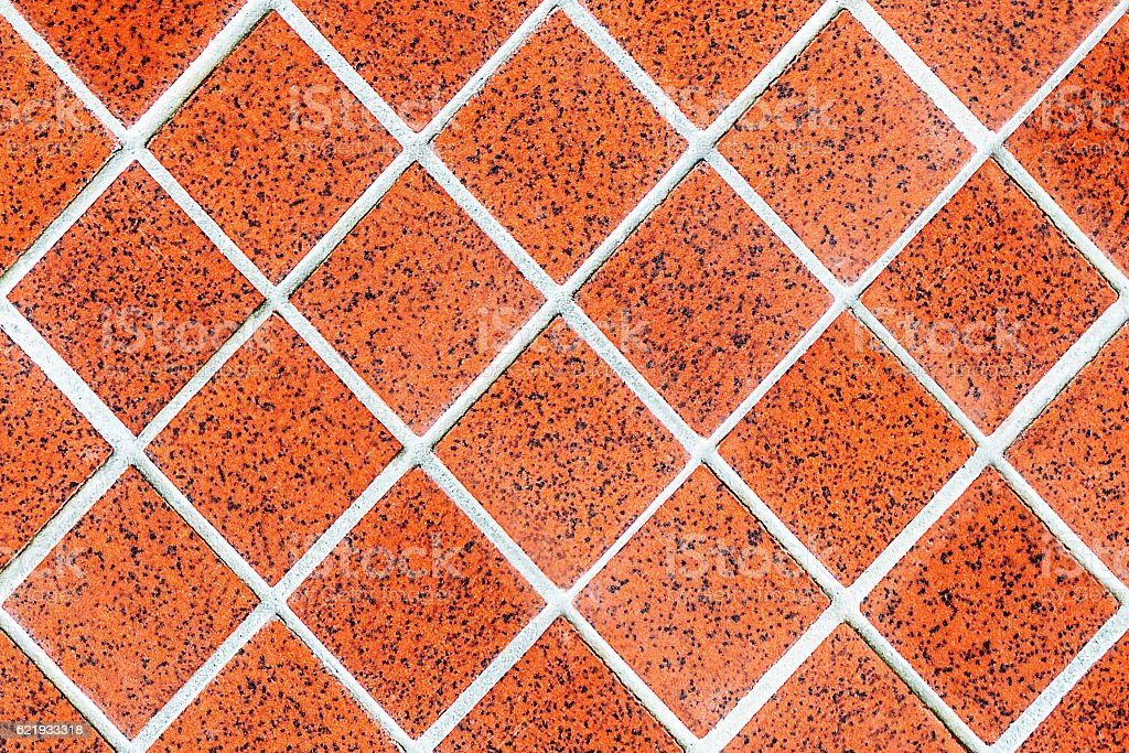 red rhomboid tile mosaic stock photo