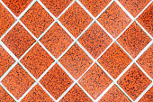 red rhomboid tile mosaic
