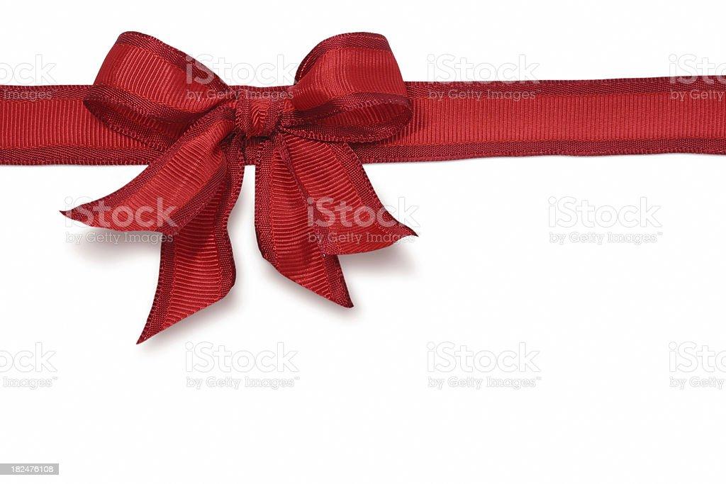Red Ribbon & Bow royalty-free stock photo