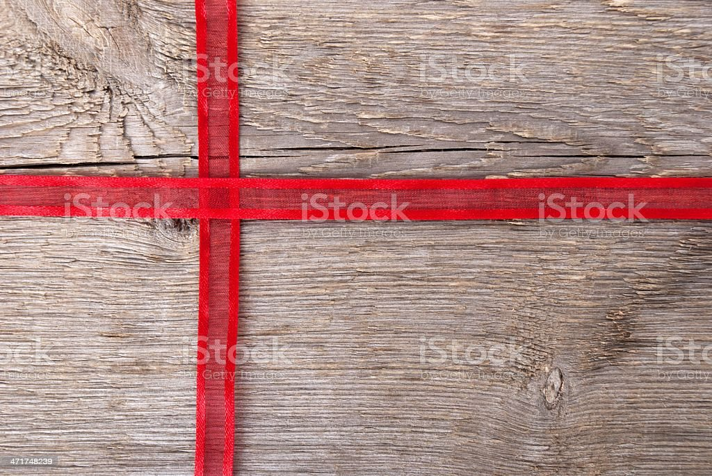 red ribbon as gift stock photo