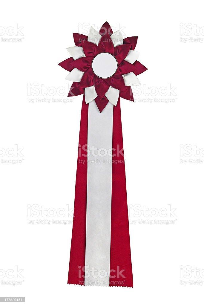 Red ribbon award stock photo