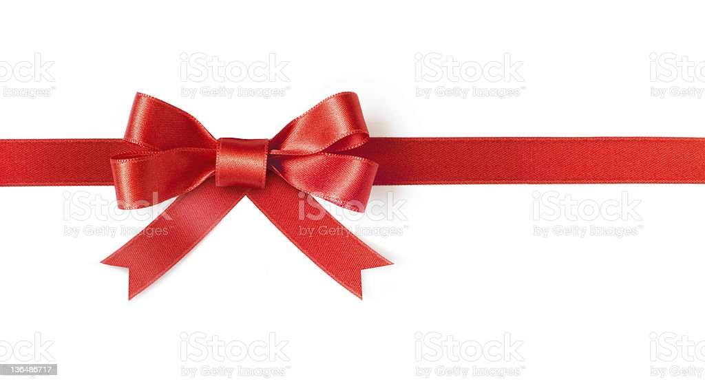 Red ribbon bow royalty-free stock photo