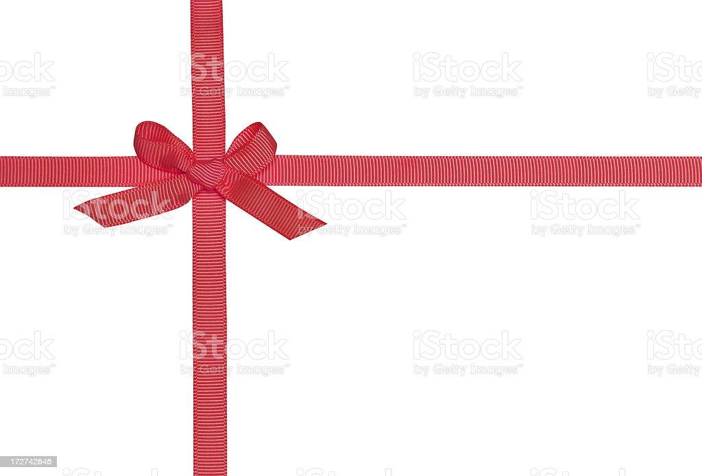 Red Ribbon Bow royalty-free stock photo