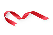 red ribbon curved shape