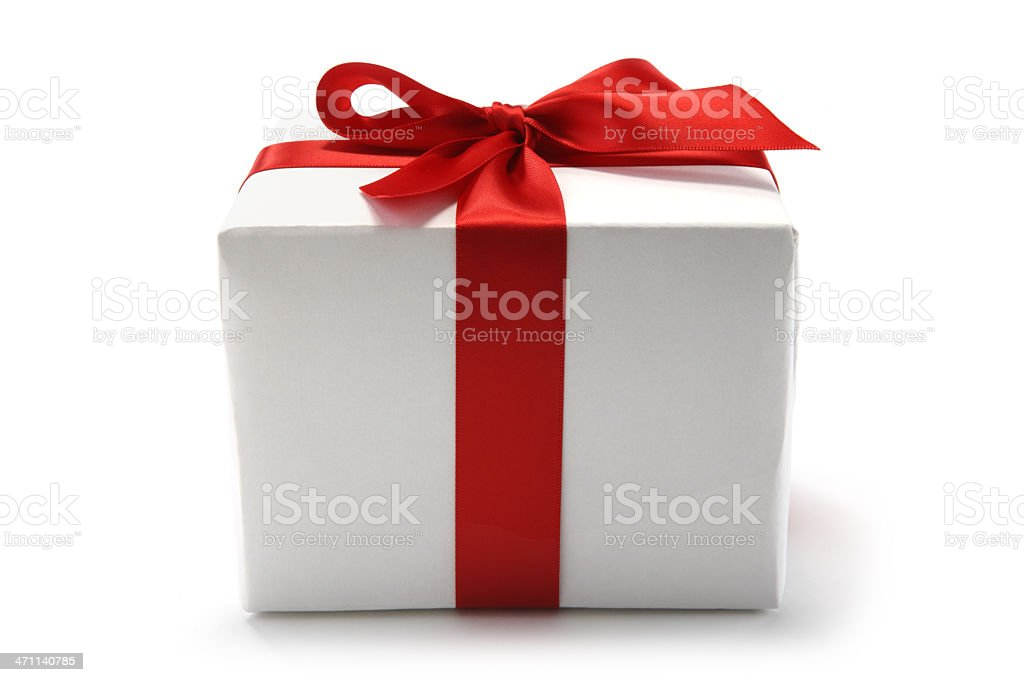 Red Ribbon Gift royalty-free stock photo
