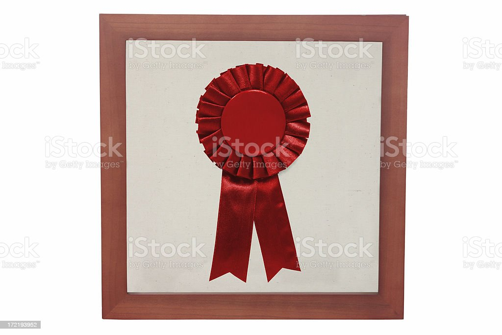 Red ribbon in a frame royalty-free stock photo
