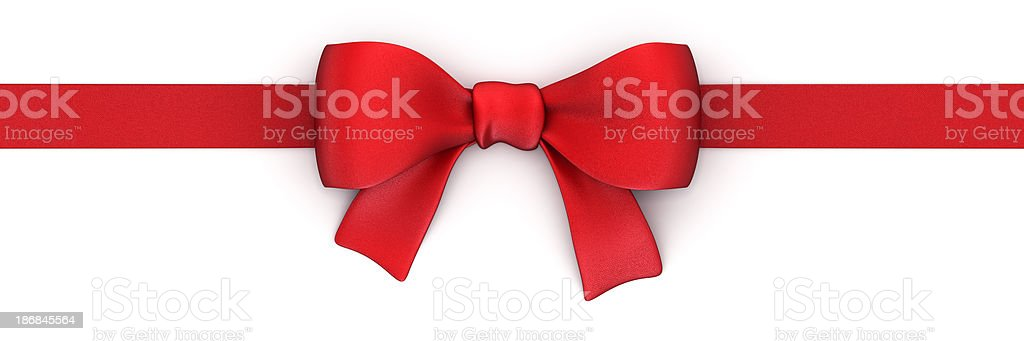 Red ribbon isolated on white with clipping path royalty-free stock photo