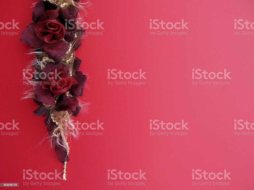 red ribbon roses royalty-free stock photo