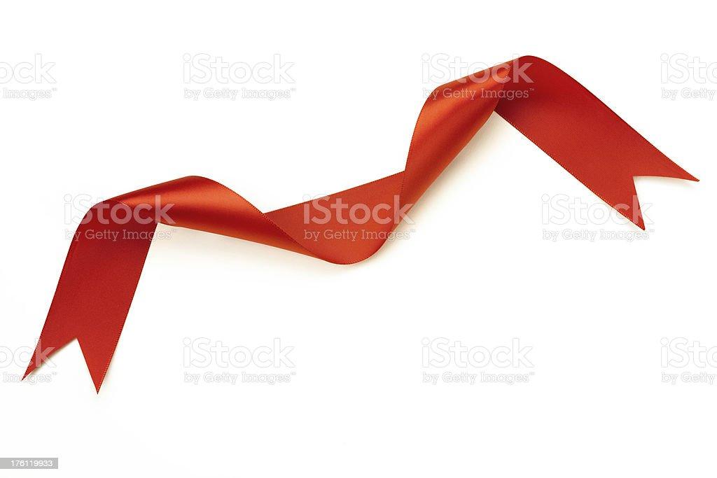 Red Ribbon Shaped Like Flying Bird royalty-free stock photo