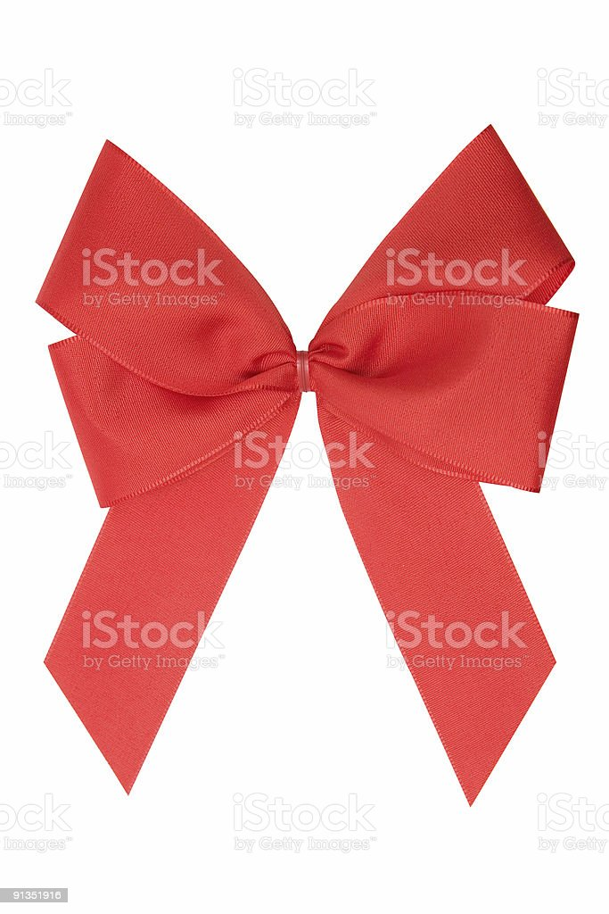 Red Ribbon w/ Clipping Path royalty-free stock photo