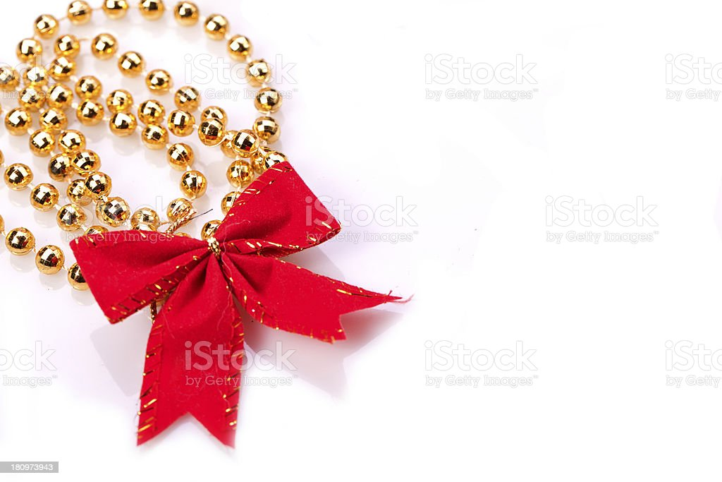 red ribbon with golden chain royalty-free stock photo
