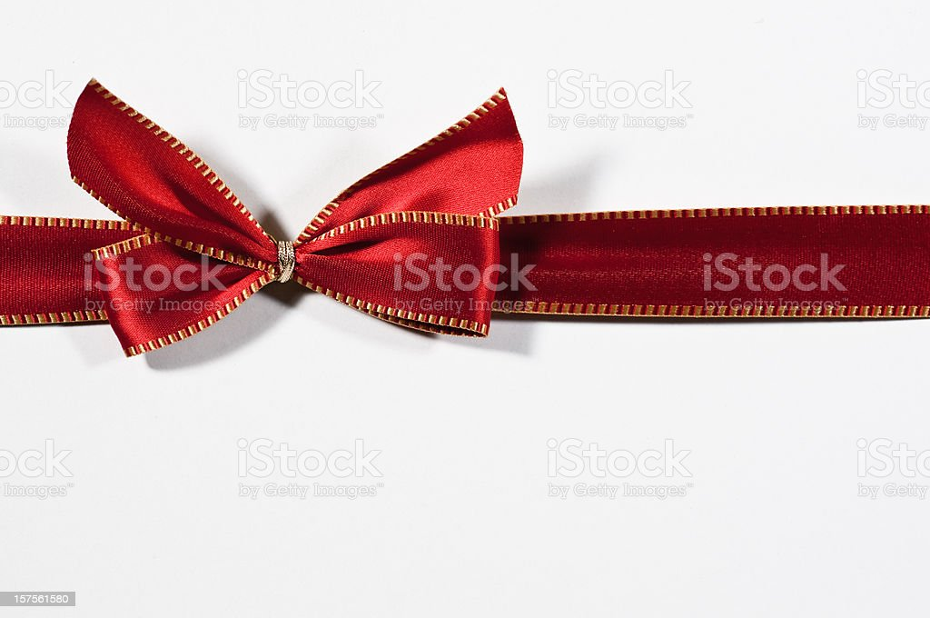 red ribbon with golden seam royalty-free stock photo