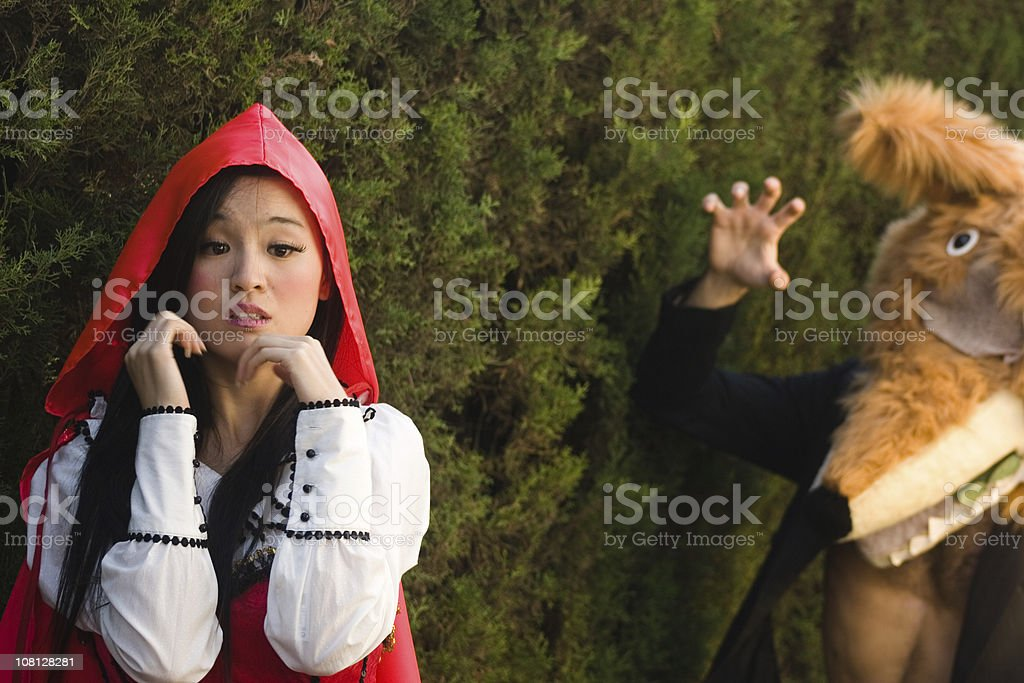 Red riding hood stock photo