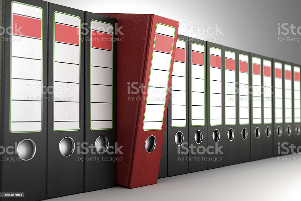 Red ring binder stock photo
