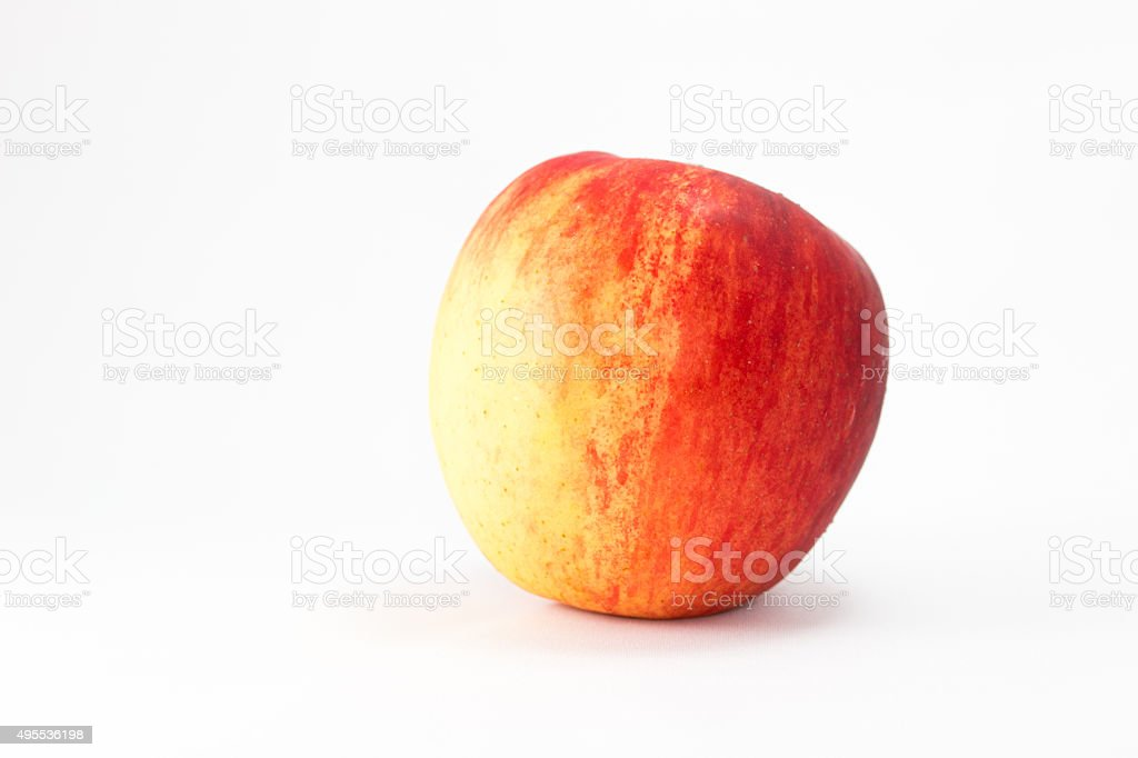 Red ripe apple . stock photo