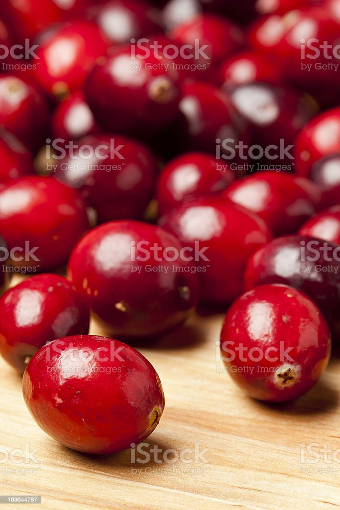 Red Ripe Cranberry royalty-free stock photo