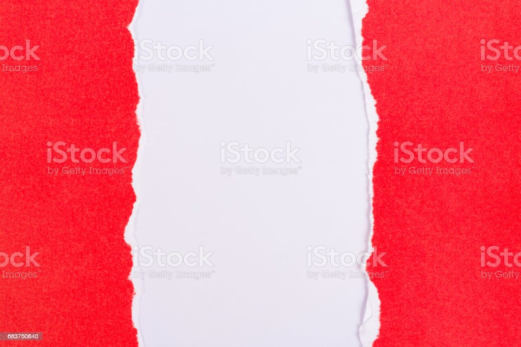 red ripped paper background texture stock photo