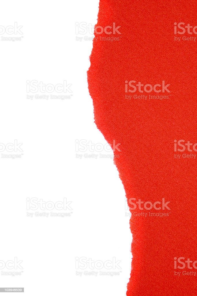 Red ripped paper royalty-free stock photo