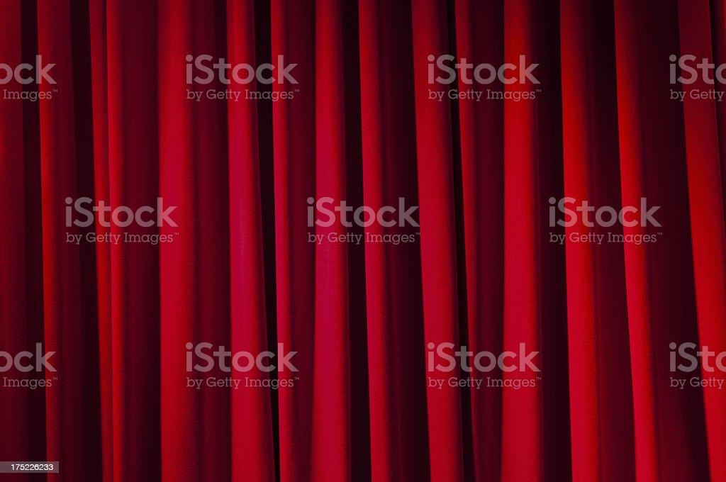 Red rippled curtain royalty-free stock photo