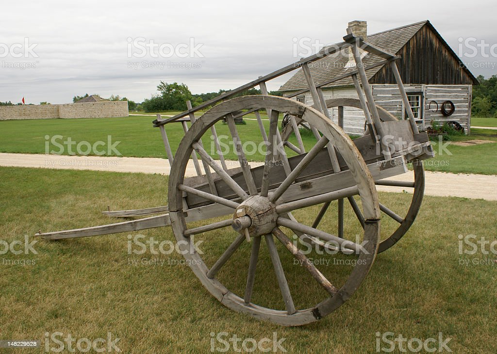 Red River Cart royalty-free stock photo