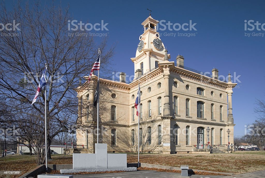 Red River County Courthouse, in North-East Texas town of Clarksville royalty-free stock photo