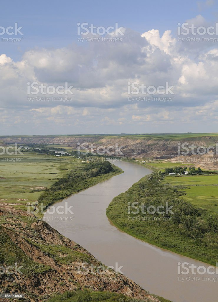Red River from Orkney Point stock photo
